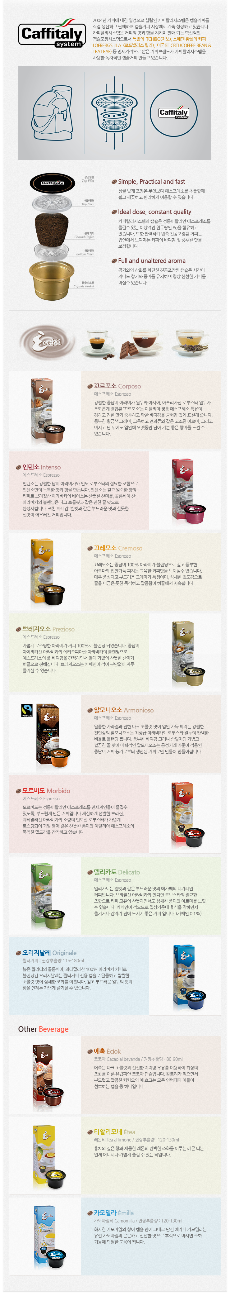 caffitaly system 설명
